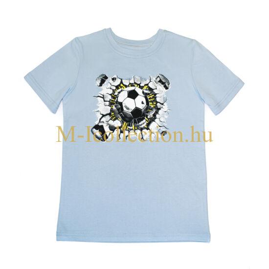 póló, fiú póló, focis póló, világoskék póló