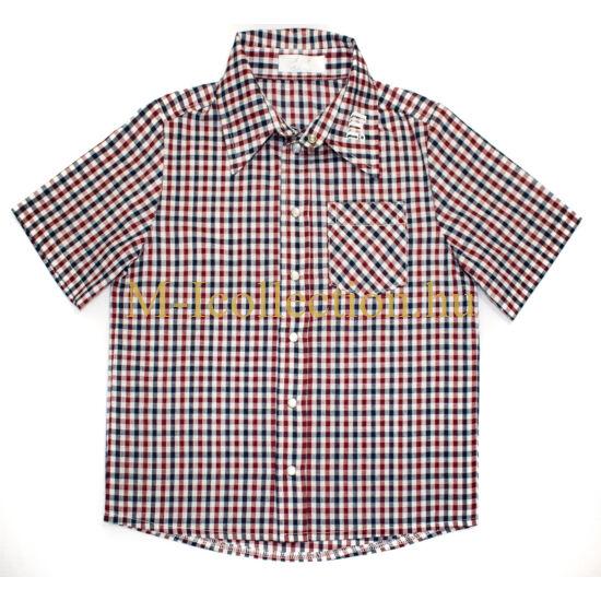 fiú ing, kockás ing, ing, rövid ujjas ing