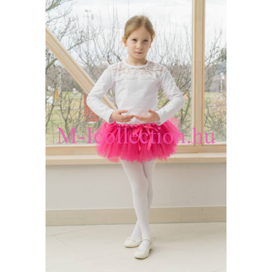 Lány pink csillogós tütü szoknya