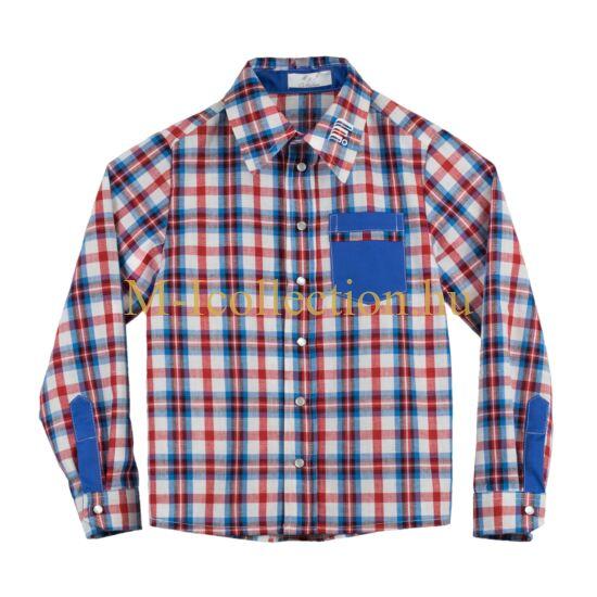 fiú ing, kockás ing, ing, hosszú ujjas ing
