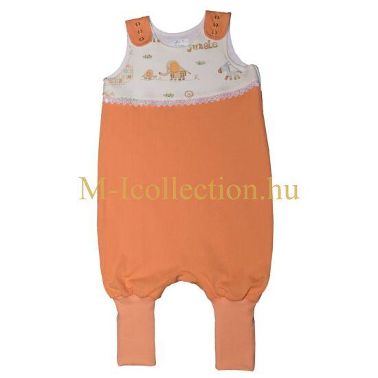 Baba narancssárga lány tipegő hálózsák eleje