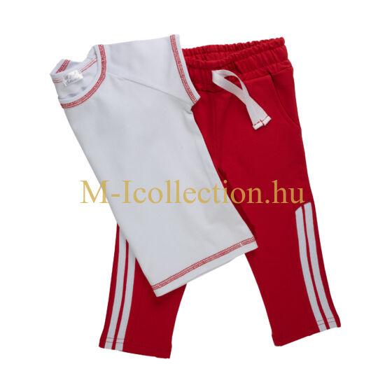 Piros lány szabadidő nadrág