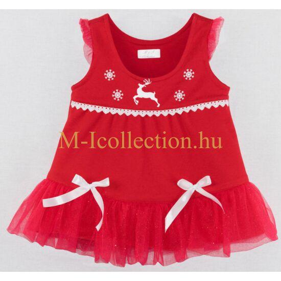 kislány ruha, piros ruha, tüll ruha, kötényruha, karácsonyi ruha