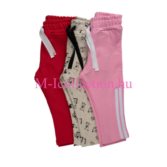 Lány szabadidő nadrág 3 darab
